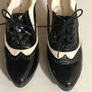Charlotte Russe Black and White heels pumps shoes